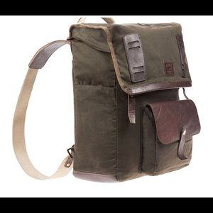 Will Leather Goods olive canvas backpack